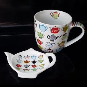 Tea mug and spoon rest